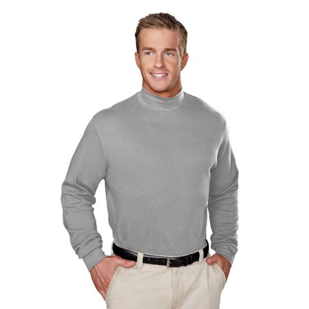 TM Cotton Interlock Mock Turtleneck. ()