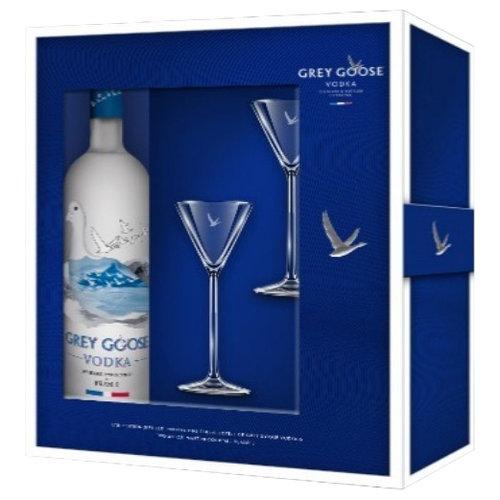 Grey Goose Vodka with Martini Glasses Gift Set, 3 pc - Walmart.com