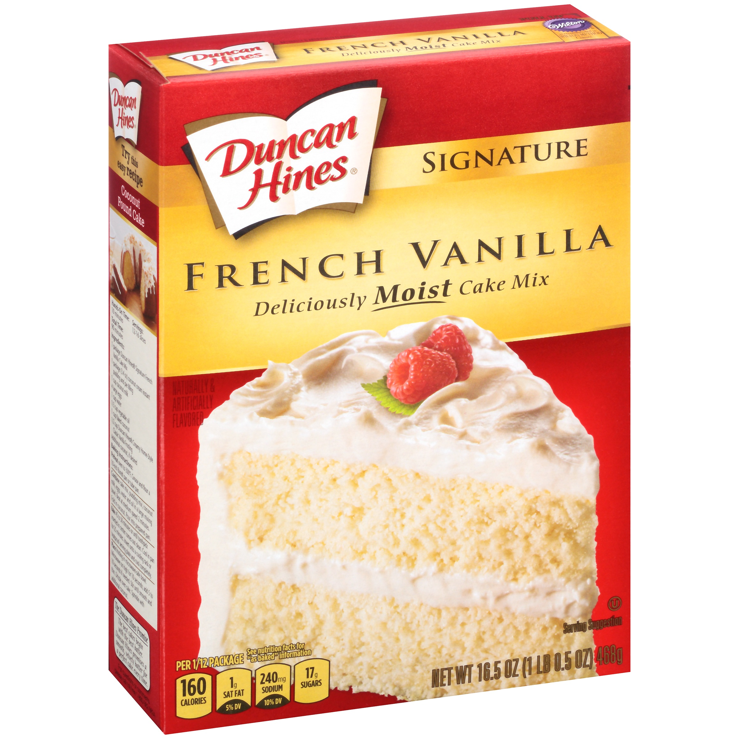 Duncan Hines Signature French Vanilla Deliciously Moist Cake Mix, 16.5 oz