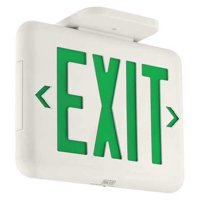 HUBBELL LIGHTING - DUAL-LITE Exit Sign,1.36W,LED,Green EVEUGW