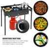 Goplus Portable Propane 225,000-BTU 3 Burner Gas Cooker Outdoor Camp Stove BBQ