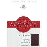 Santa Biblia  Holy Bible: Reina-Valera 1960 rojizo, piel fabricada letra grande tamano manual  Burgu