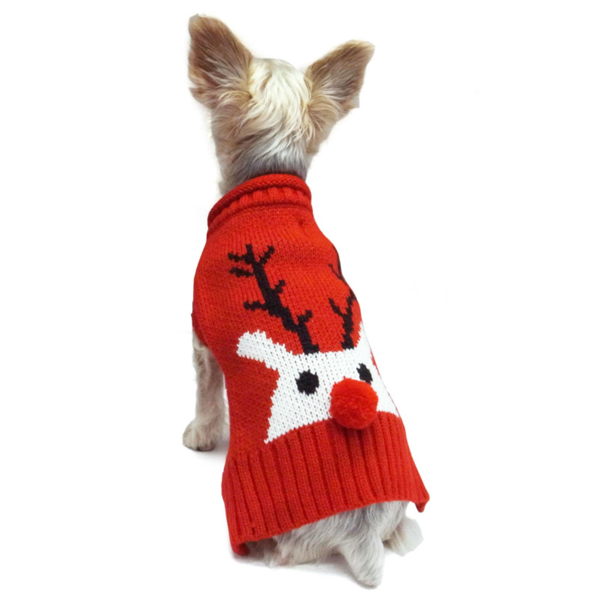 Red Nose Reindeer Dog Sweater By Dogo Red 4x Large Walmart Com
