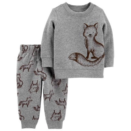 Child of Mine by Carter's Baby Boy Fleece Sweatshirt & Jogger Pants, 2pc Outfit Set