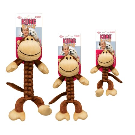Kong Braidz Monkey Dog Toy Small Walmart Com