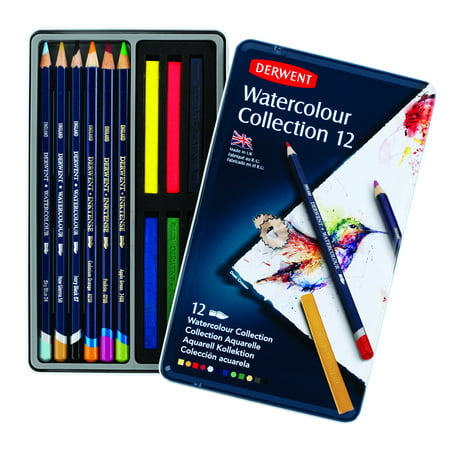 Derwent Watercolor Pencil Collection 12-Piece Tin (Art And Craft Ideas From Waste Material)