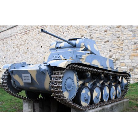 Wwii German Light (LAMINATED POSTER German WWII PzKpfw II Ausf. C light tank, part of Belgrade Military Museum outer exhibition at Kalem Poster Print 24 x)