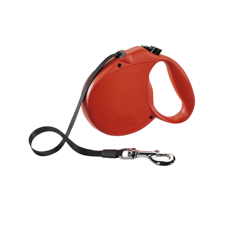 - flexi Retractable Dog Leash (Tape), 16 ft, Large, Red