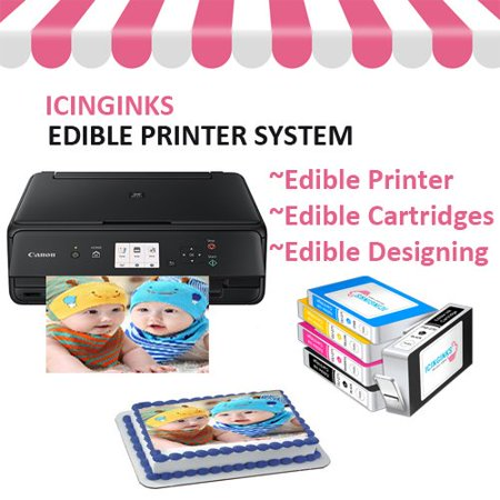 Icinginks Edible Photo Printer Bundle –Wireless Canon Printer with Free (Best Printer For Graphic Design)