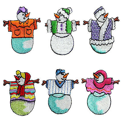 Lily Cute Snowman Winter Holiday Self Adhesive Iron On Applique Sticker Patch