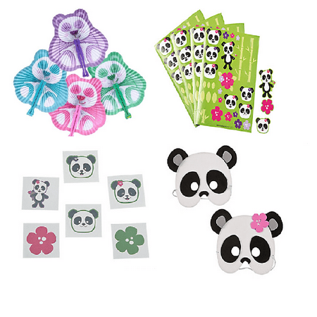 Panda Party Favor Set For 12 (Panda Party Ideas)
