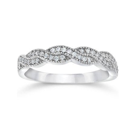 Sydney Evan Pave Ring (Pompeii3 1/8ct Pave Diamond Infinity Vintage Wedding Anniversary Ring 14K White)