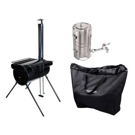 Tms Portable Military Camping Wood Cooking Stove Tent
