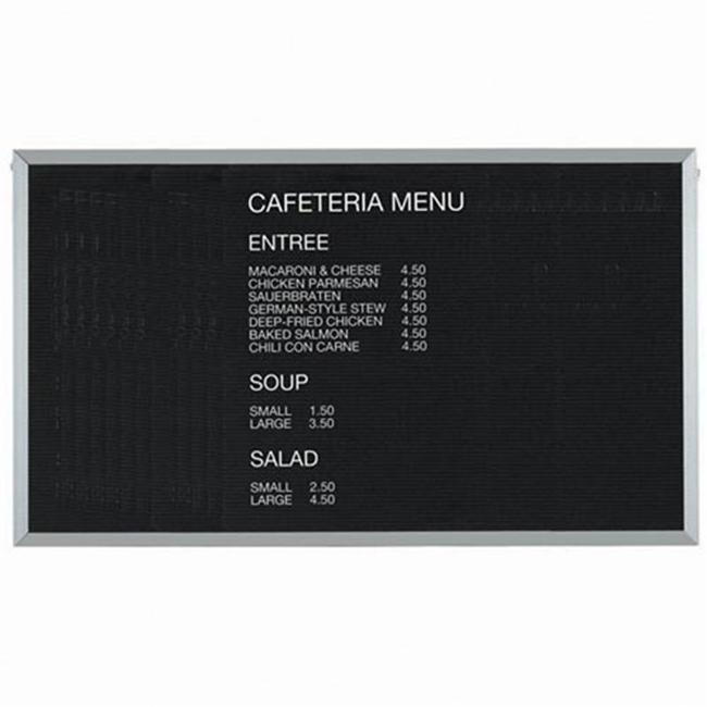 Aarco Products BOFD3660 Letter Board Message Board Aluminum Frame by Aarco Products Inc
