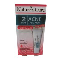 Natures Cure Two-Part Womens Acne Treatment - 1 Kit, 2 Pack