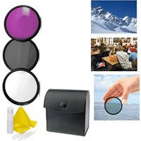 3-Piece Multiple Coated Filter Kit For Olympus Evolt E-500 (58mm) + 3pc Cleaning Kit