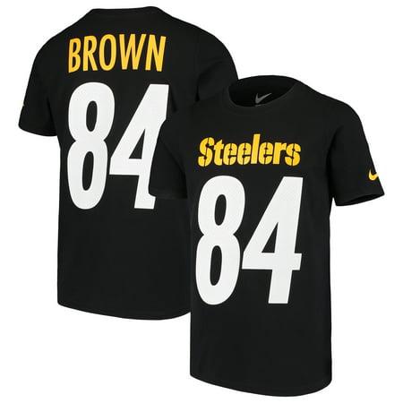 Antonio Brown Pittsburgh Steelers Nike Youth Player Pride 3.0 Name & Number T-Shirt - Black (Steelers Player)