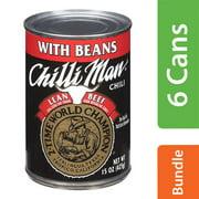 (6 Pack) ChilliManLean BeefChili 15 oz