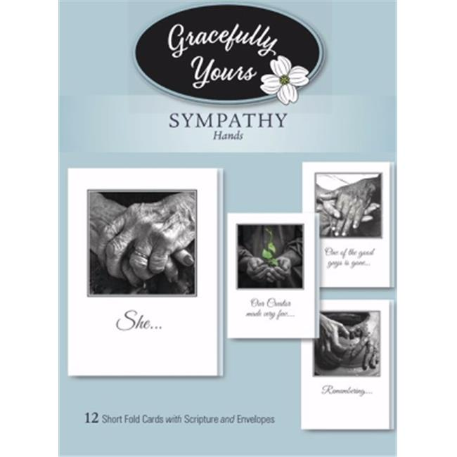 Artbeat Of America 203260 Boxed Card-Sympathy-Hands No. 146 - Box of 12