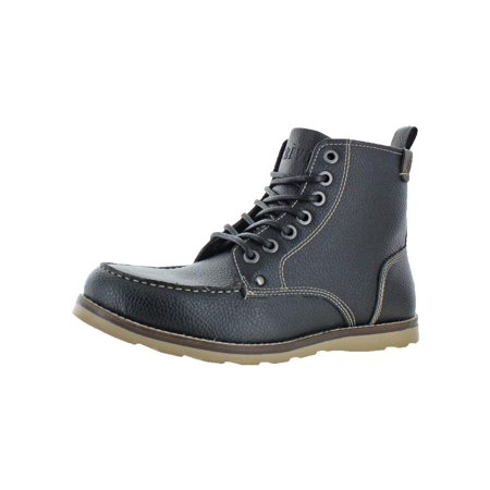 Crevo Mens Stags Textured Memory Foam Casual Boots