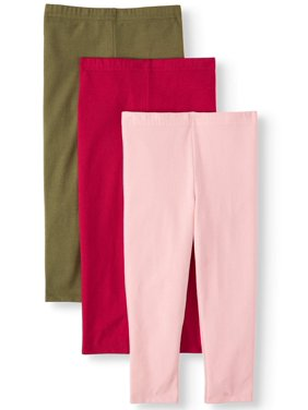 Garanimals Solid Leggings, 3pc Multi-Pack (Toddler Girls)