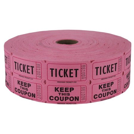 Pink Double Raffle Ticket Roll