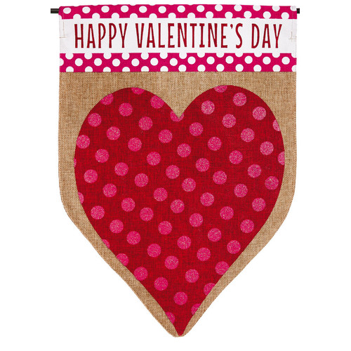 Evergreen Enterprises, Inc Valentineu0027s Heart Garden Flag