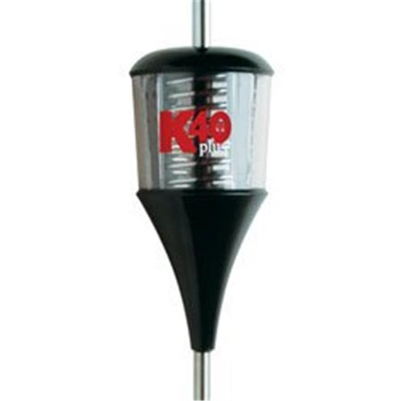 K40 TR40PLUSBC Plus Series Black/Clear 6000 Watt Trucker Antenna with Chrome Coil Multi-Colored