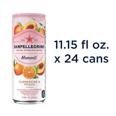 Sanpellegrino Momenti Clementine & Peach 11.15 fl oz. Cans (24 Count)