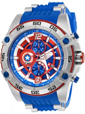 Invicta Men's Marvel Captain America Stainless Steel/Silicone Watch 26780