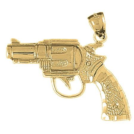 10k yellow gold revolver gun pendant 33 mm walmart 10k yellow gold revolver gun pendant 33 mm aloadofball Image collections