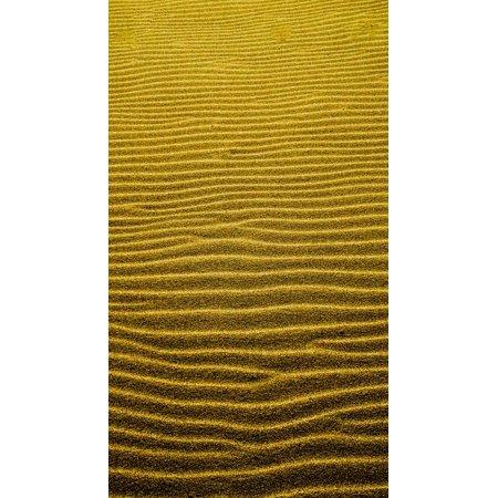 Desert Sand Pattern - Canvas Print Desert Beach Texture Pattern Sand Wind Ripple Stretched Canvas 10 x 14