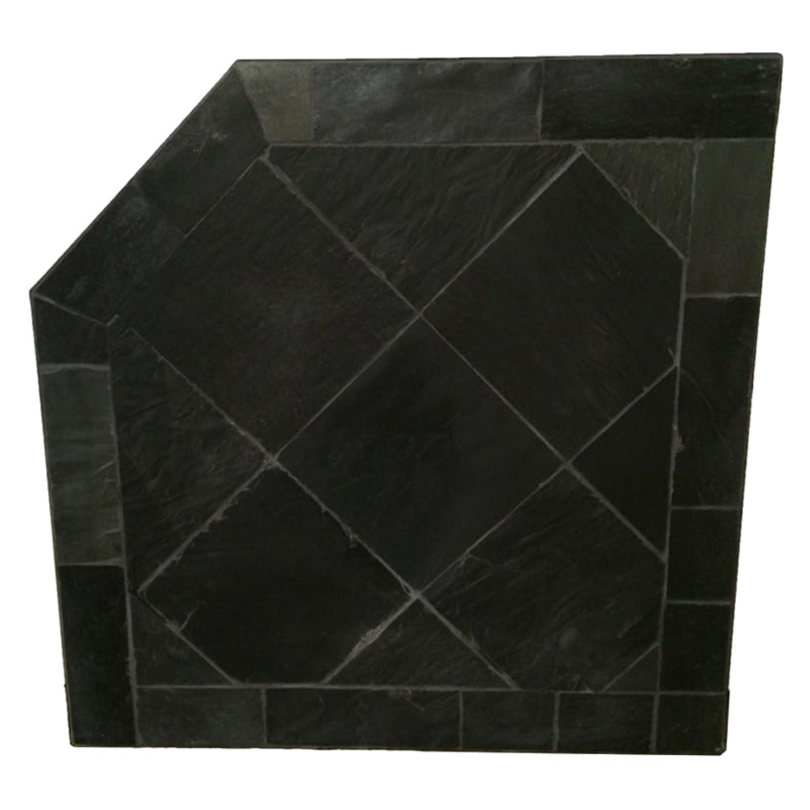 HearthSafe Black Slate Corner Hearth Pad