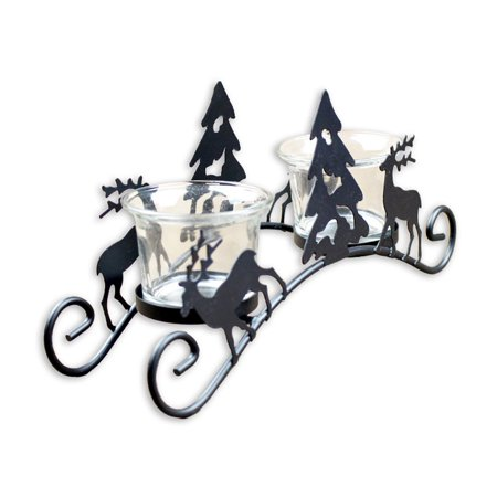 Xms Hollow Candle Holder Candlestick Creative new year Decor Party Decoration - New Years Decor