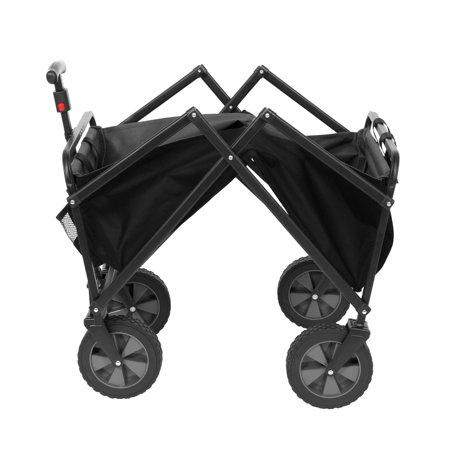 Seina Manual 150 Pound Capacity Heavy Duty Folding Utility Cart, Black/Gray - image 2 de 5