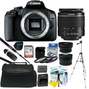 Canon EOS 2000D / Rebel T7 24.1MP DSLR Camera + 18-55mm Lens + All You Need Kit