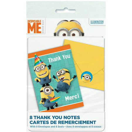 Despicable Me Minions Thank You Cards, 8ct](Minion Valentine Cards)