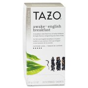 Tazo, Awake English Breakfast Black Tea, Tea Bags, 24 Ct