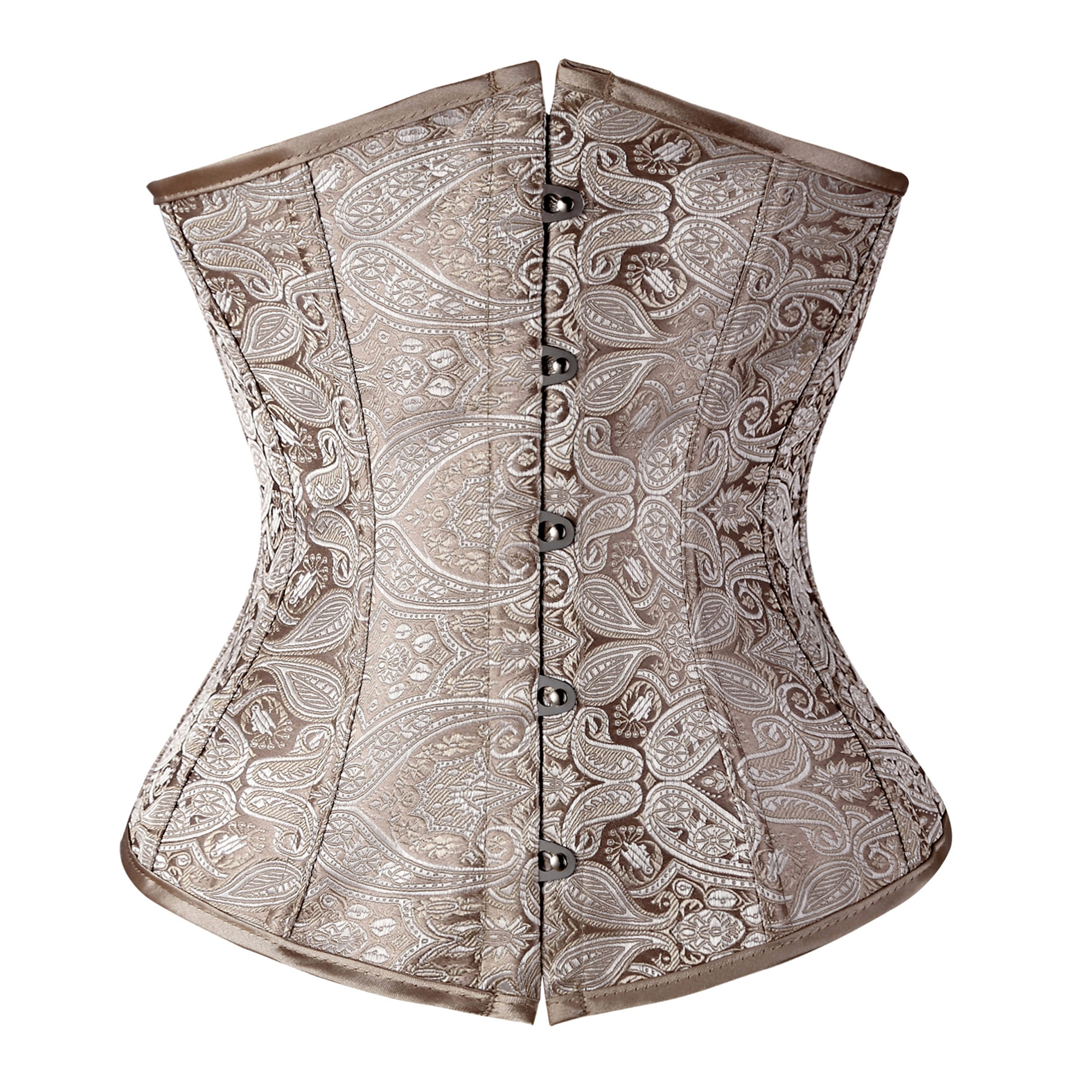 SAYFUT Women Vintage Pattern Knitting Underbust Corset Lumbar Buckle-Up Waist Training Corset