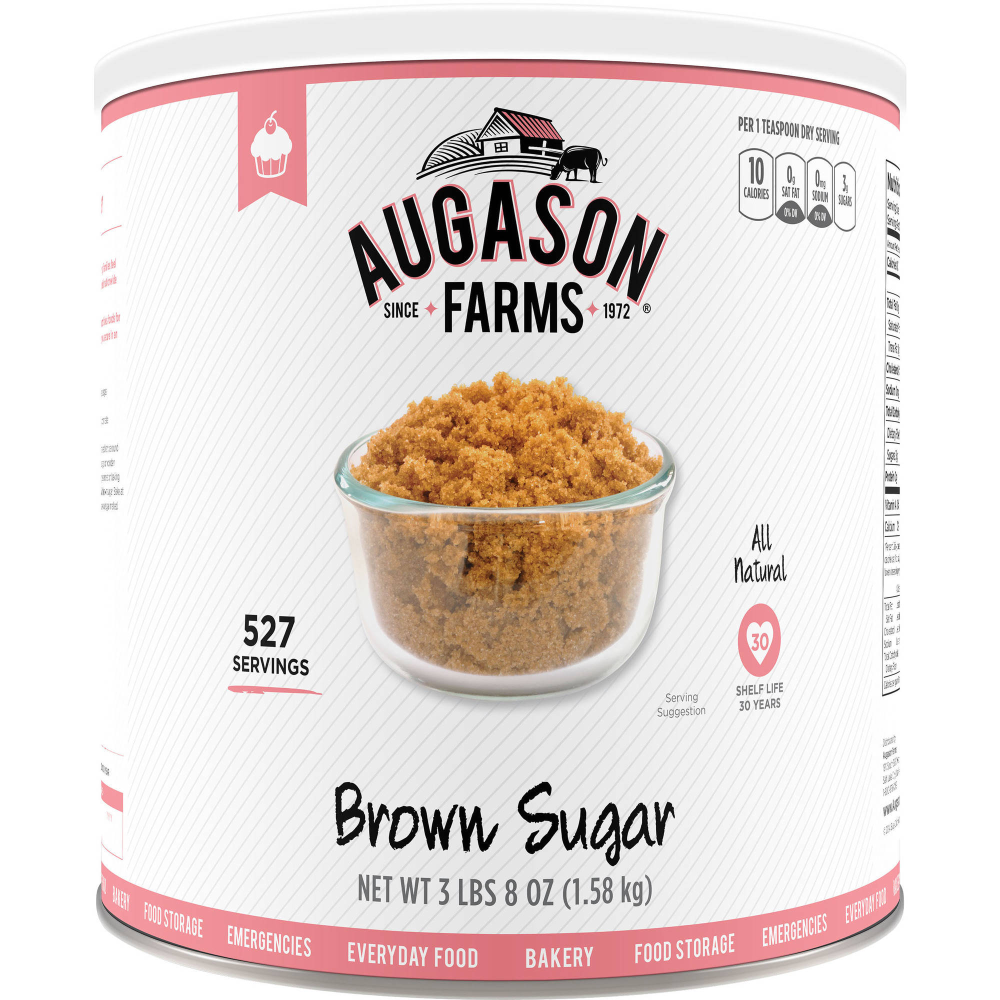 Augason Farms Brown Sugar, 56 oz