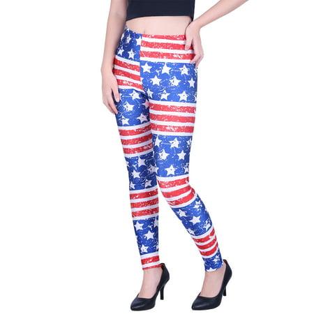 2a8862a4bd79a HDE - Women's Leggings Graphic Print Tights Fun Digital Design Holiday  Elastic Pants - Walmart.com