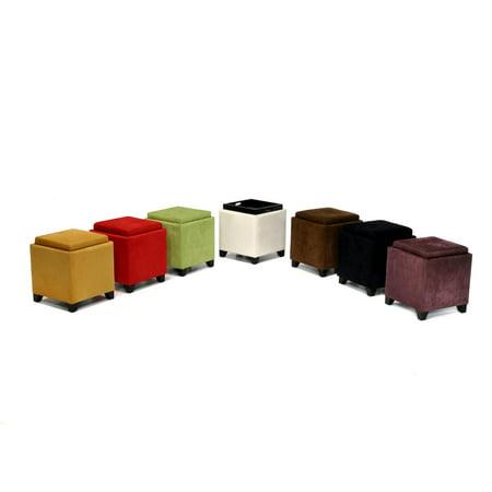 Pleasant Micro Fiber Storage Ottoman Multiple Colors Short Links Chair Design For Home Short Linksinfo