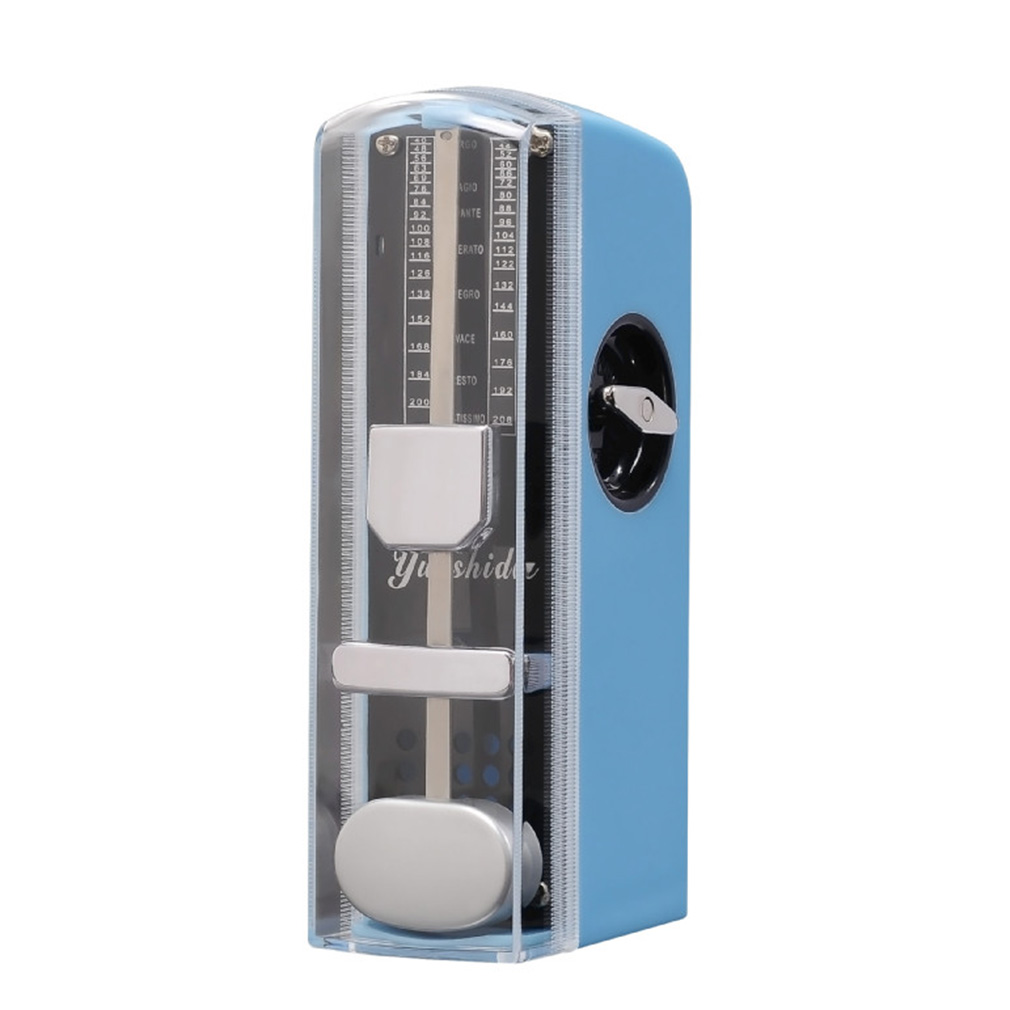 Blue Quality Super Mini Guitar Mechanical Metronome 11cm Height Mobile Metronome New by
