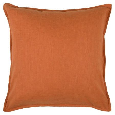 "20""x20"" Solid Throw Pillow Orange - Rizzy Home"