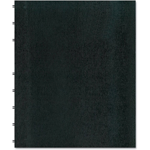 Blueline MiracleBind Notebook, College/Margin, 11 x 9-1/16, White, 75 Sheets, Black Cover