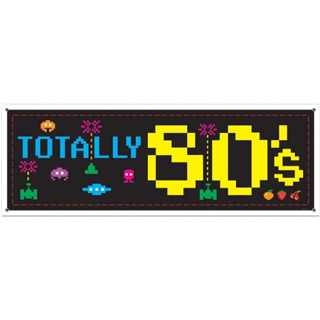 80'S Sign Banner (Each) - Party Supplies](80's Themed Birthday Party)