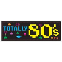80'S Sign Banner (Each) - Party Supplies