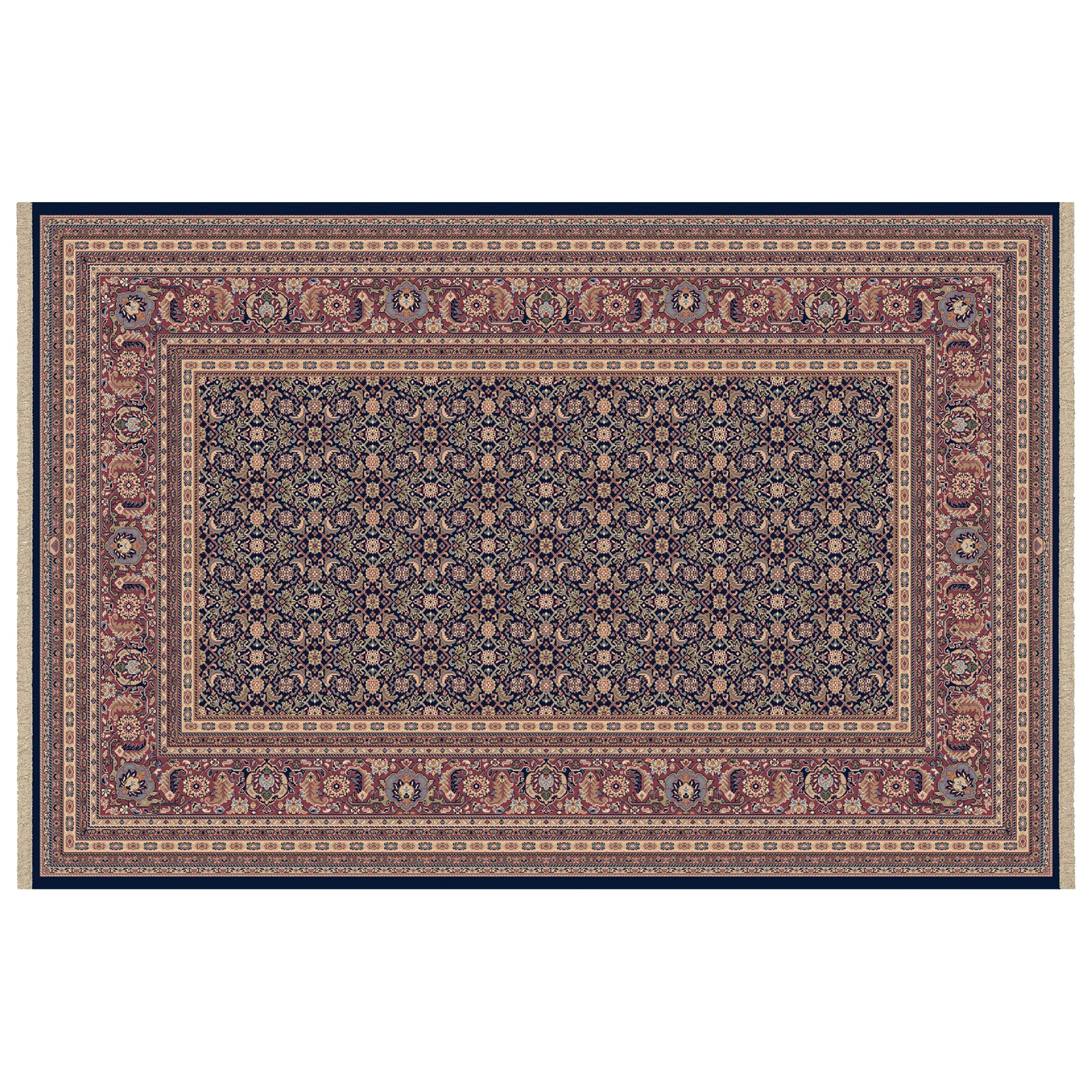 Dynamic Rugs Brilliant Collection Wool Hearth Rug-Navy Cyril by Dynamic Rugs