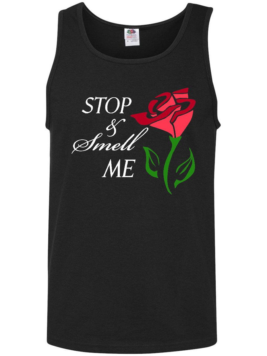 Stop and Smell Me Stylized rose Men's Tank Top