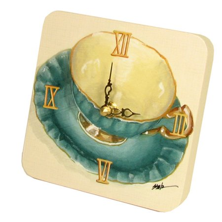 Lexington Studios Home And Garden Tea Cups Tiny Times Clock